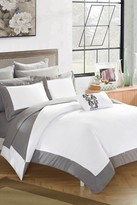 Bathilda Hotel Collection Modern Two-Tone Reversible 10-Piece Bed In a Bag Comforter Set - Grey