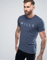 Jack Wills Westmore Wills Logo T-shirt In Navy