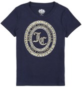 Juicy Couture Girls Logo Seal Of Couture Short Sleeve Tee