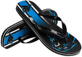 Forever Collectibles Carolina Panthers Gradient Big Logo Flip Flops