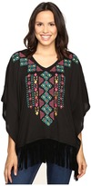 Roper 0612 Solid Sweater Jersey Poncho