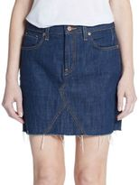 Genetic Los Angeles Gordon Distressed Denim Skirt