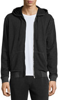 ATM Anthony Thomas Melillo French Terry Zip-Up Hoodie, Charcoal