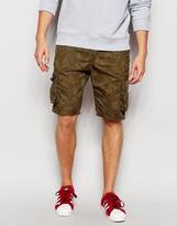 Brave Soul Camo Shorts - Green