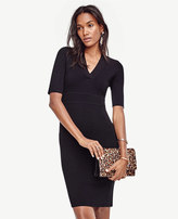 Ann Taylor Petite V-Neck Sweater Dress