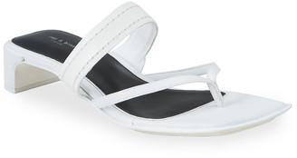 Rag & Bone Colt Mid-Heel Square-Toe Slide Sandals