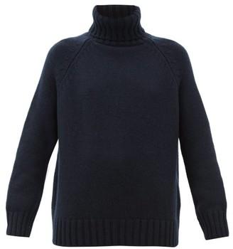 Johnstons of Elgin Johnston's Of Elgin - Sophie Roll-neck Cashmere Sweater - Navy