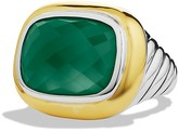 David Yurman Waverly Ring with Green Onyx & Gold