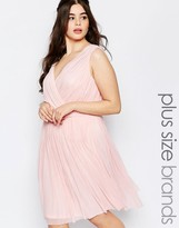 Lovedrobe Plus Pleated Dress With Wrap Front
