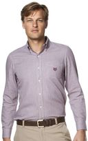 Chaps Men's Classic-Fit Houndstooth Easy-Care Poplin Button-Down Shirt