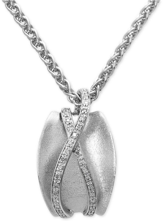 Effy Balissima by Diamond Pendant Necklace (1/6 ct. t.w.) in Sterling Silver