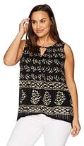 Lucky Brand Women's Plus Size Drop Needle Tunic Top