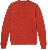 Incotex Textured-knit Virgin Wool Sweater - Orange