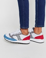 Saucony Jazz 91 White Red & Blue Sneakers