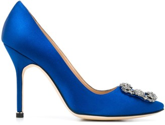 Manolo Blahnik Hangisi jewel buckle pumps