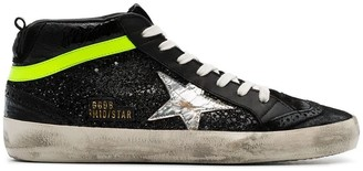 Golden Goose Mid Star Glittered Sneakers