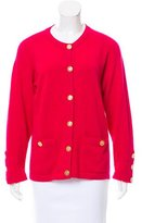 Chanel Clover-Accented Crew Neck Cardigan