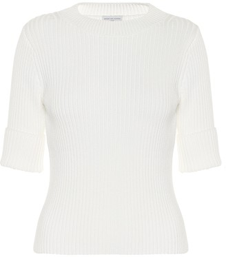 Dries Van Noten Ribbed-knit cotton-blend top
