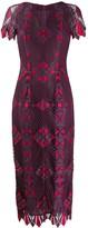 Talbot Runhof fitted midi dress