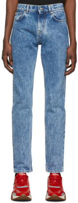 Versace Blue Straight Jeans