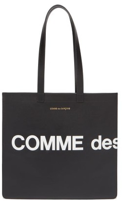 Comme des Garcons Logo-print Leather Tote Bag - Black