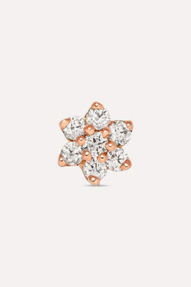 Maria Tash 4.5mm 18-karat Rose Gold Diamond Earring - one size
