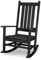 Polywood Vineyard Porch Rocking Chair Color: Black