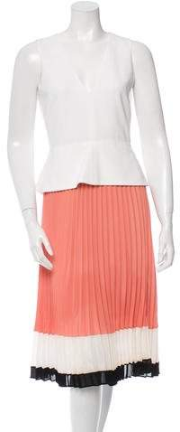 Altuzarra Sleeveless Pleat-Accented Dress w/ Tags