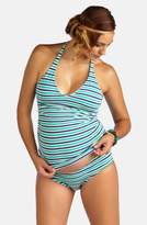Pez D'or Striped Sporty Tankini Maternity Swimsuit