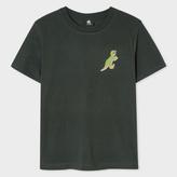 Paul Smith Women's Charcoal Grey Small 'Dino' Print Cotton T-Shirt