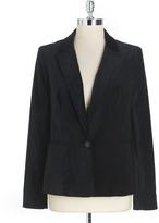 Anne Klein Plus-Size One-Button Velvet Blazer