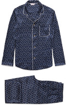 Derek Rose Brindisi Printed Silk Pyjama Set