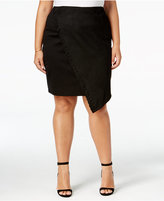 mblm by Tess Holliday Trendy Plus Size Asymmetrical Pencil Skirt