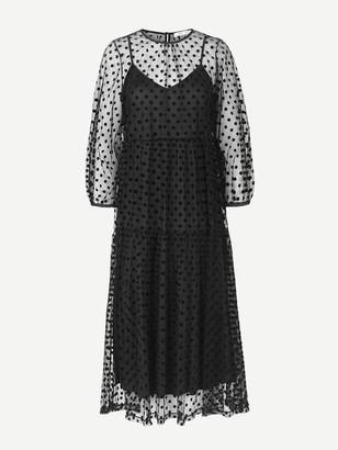 Samsoe & Samsoe Madie Sheer Maxi Dress Black - XS