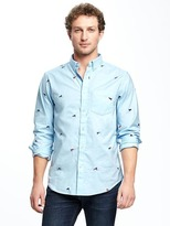Old Navy Regular-Fit Built-In Flex Oxford Shirt for Men