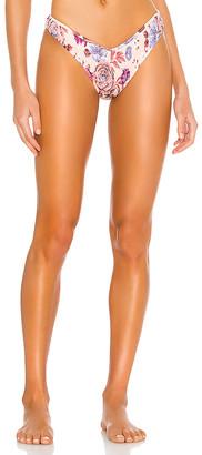 Tori Praver Swimwear Sly High Leg Cheeky Bikini Bottom