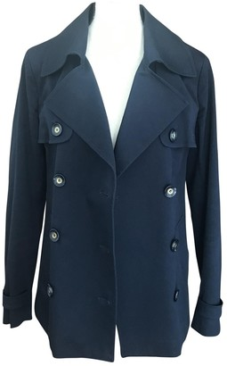 Pinko Blue Cotton Coat for Women
