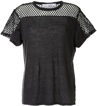 IRO mesh-panel short-sleeve T-shirt