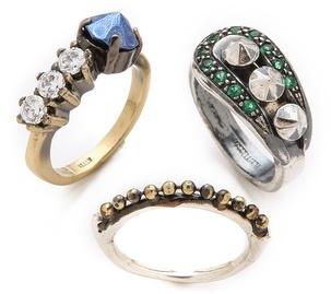 Iosselliani Fused Stone Ring Set