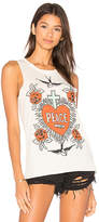 Chaser Peace & Love Tank in Ivory. - size L (also in M,S,XS)