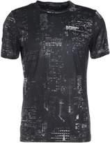 Superdry Tech Print Tshirt Black City Lights