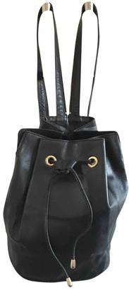 Christian Dior Black Leather Backpacks