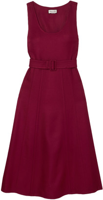Paul & Joe Belted Wool-blend Twill Midi Dress