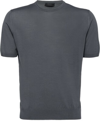 Prada Worsted Wool Crew-Neck Sweater