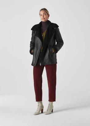 Shearling Brianna Biker Jacket