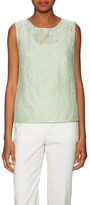 Max Mara Prugna Cotton Floral Embroidered Tank Top
