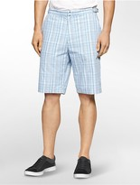 Calvin Klein Classic Fit Summer Plaid Shorts