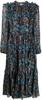 Ulla Johnson long sleeve ruffled floral print dress