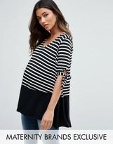 Bluebelle Maternity Dip Back Top