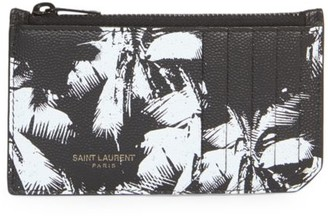 Saint Laurent Palm Leather Credit Card Holder